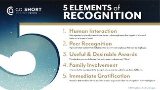 5 elements of recognition