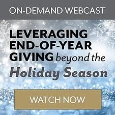 Leveraging End of Year Giving Beyond the Holiday Season