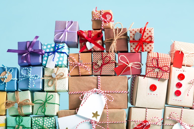 various gift boxes for holiday gifting program