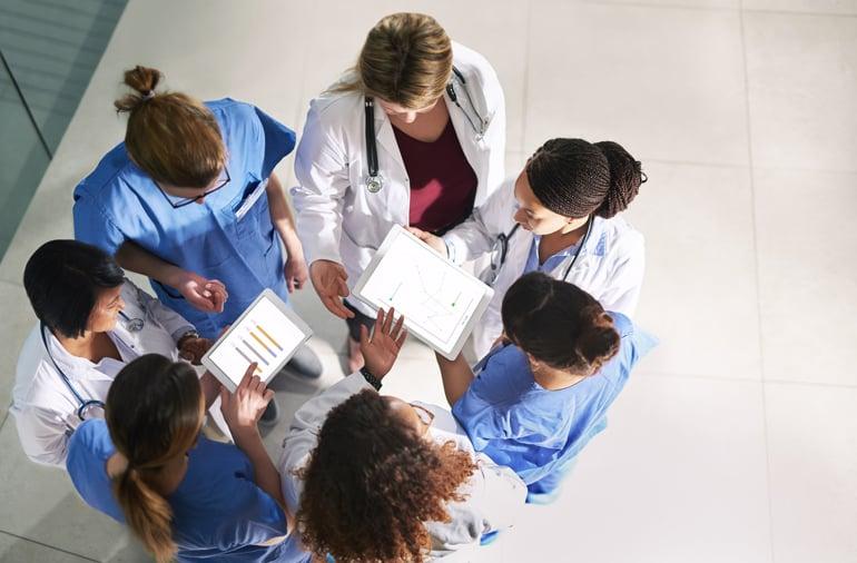 Doctors and nurses meet during National Nurses and Hospital week